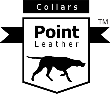 Point leather dog collars